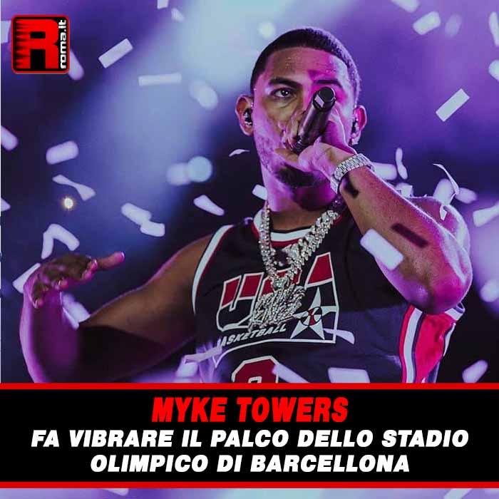 Stai attualmente visualizzando Myke Towers fa vibrare il palco dello Stadio Olimpico di Barcellona
